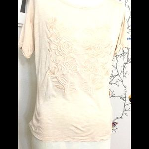 Forever 21 Light Embroidered Backless Top S